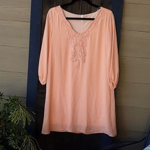 Anthro Peach dress size M!